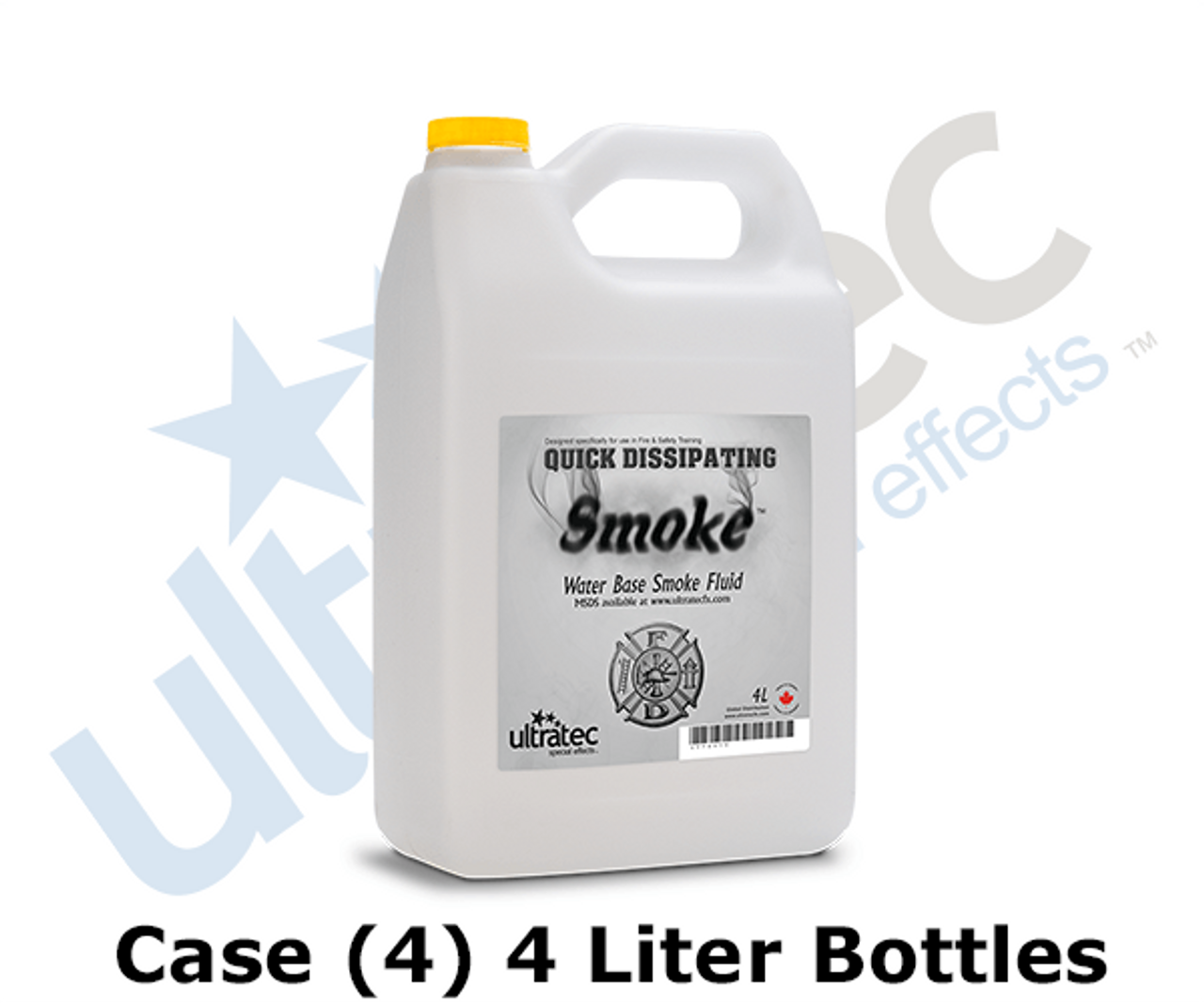 Ultratec 4L Fire & Safety Quick Dissipating Smoke Fluid by the Case