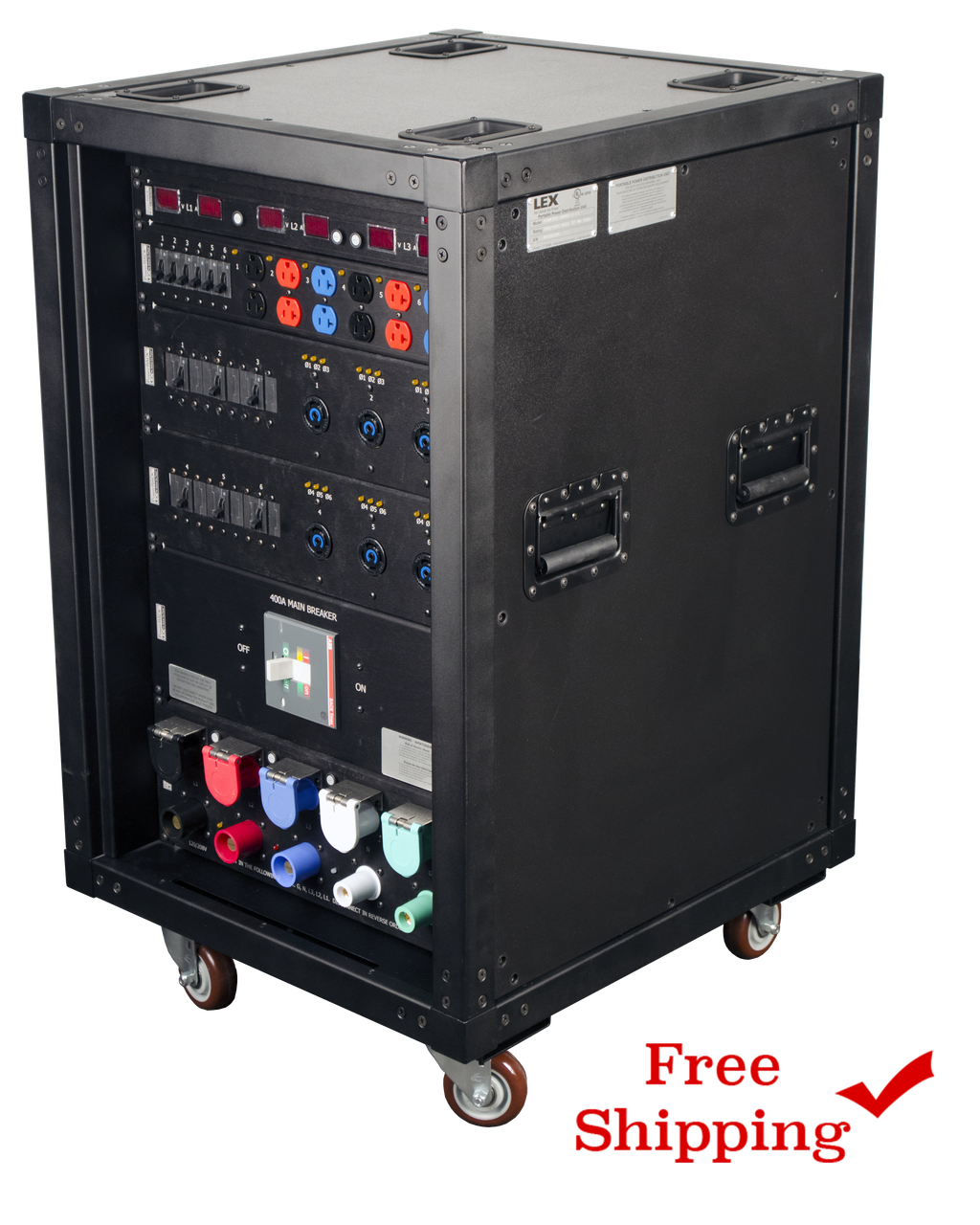 """Lex """"Presidential"""" Rack, 400 Amp PowerRACK with (48) 120 VAC or 208 VAC Circuits and Metering"""