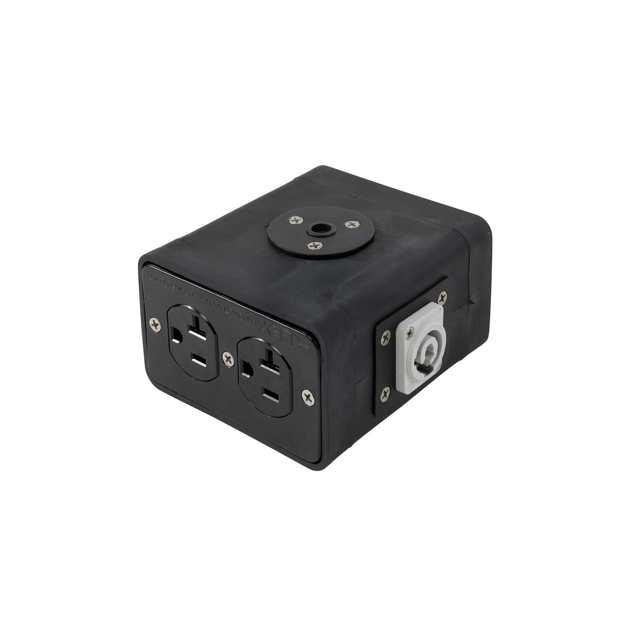 Lex 20 Amp Quad Box powerCON® to Duplex Receptacles