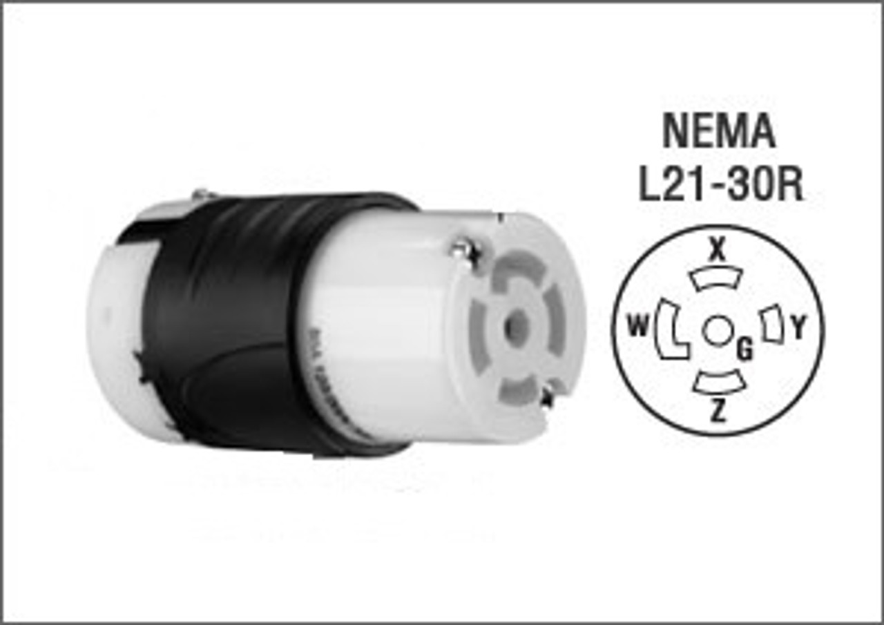 NEMA L21-30 Locking Extension - 10'