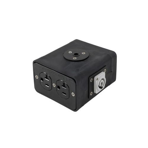 Lex 20 Amp Quad Box powerCON® to Duplex Receptacles w/Threaded Insert