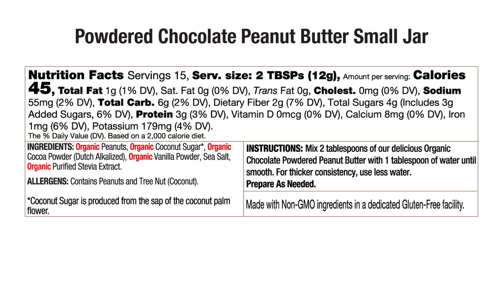 Chocolate Powdered Peanut Butter Nutritional Small