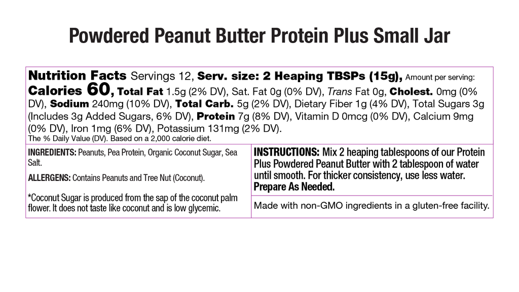 Protein Plus Powdered Peanut Butter Nutritional Small