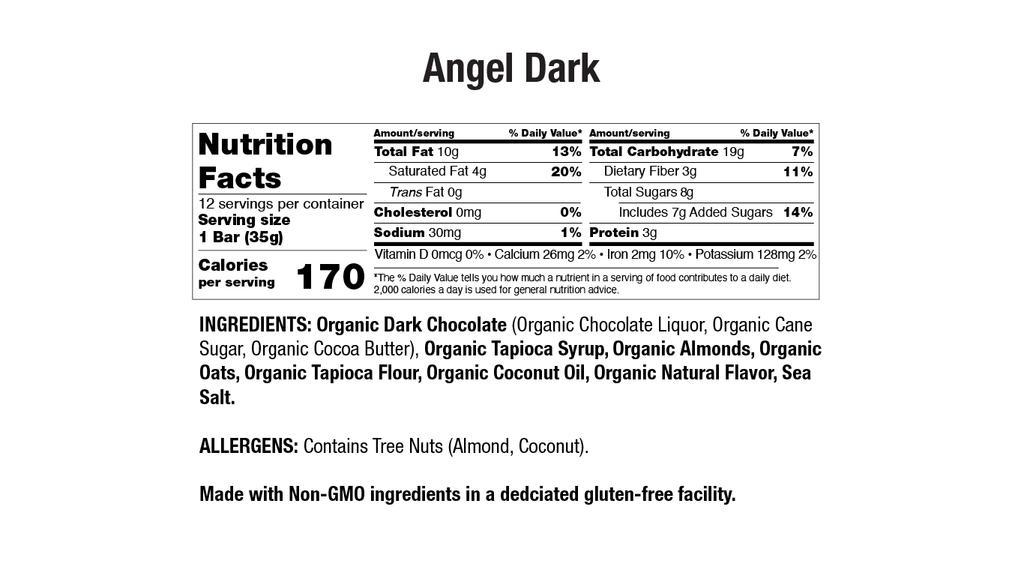Angel Dark Chocolate Nutritional