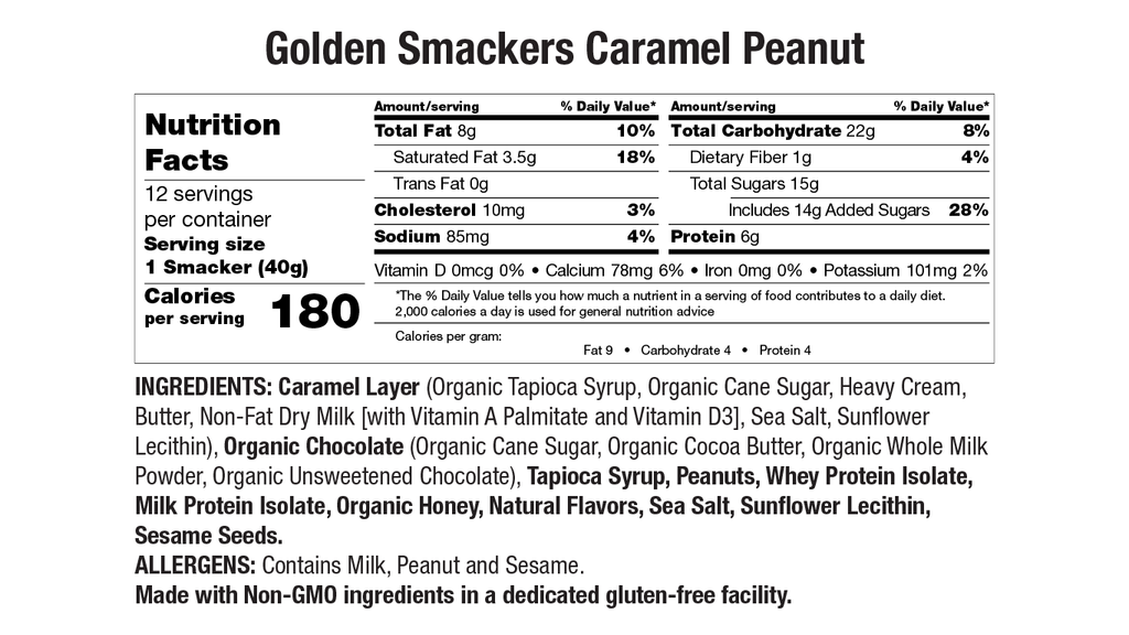 Caramel Peanut Nutritional