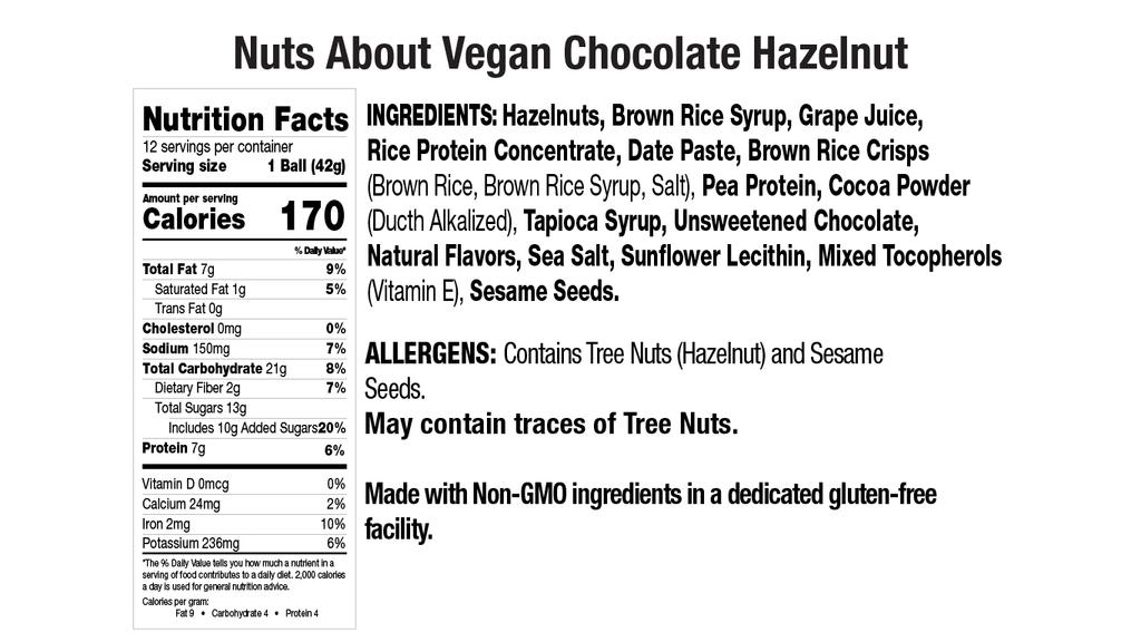 Vegan Chocolate Hazelnut Nut Butter Balls