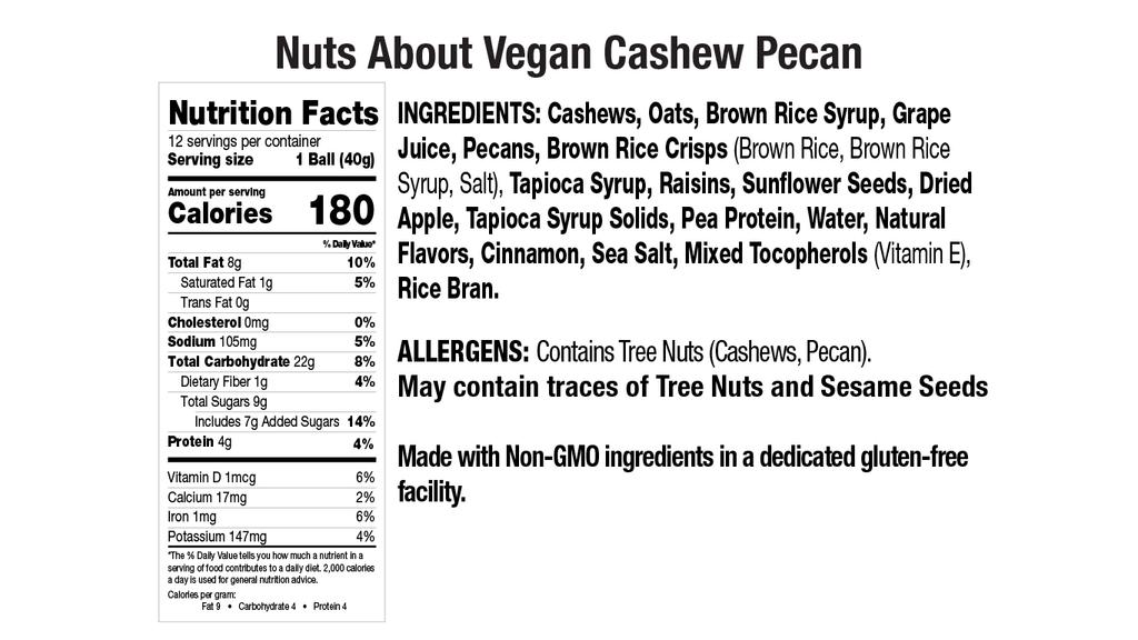 Vegan Cashew Pecan Nut Butter Balls