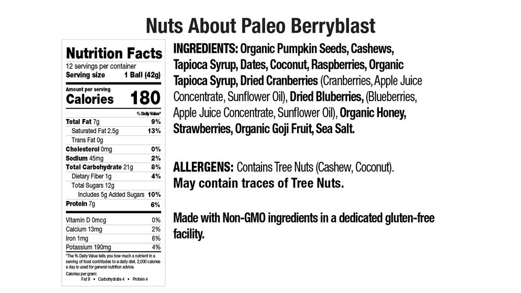 Paleo BerryBlast Nut Butter Balls