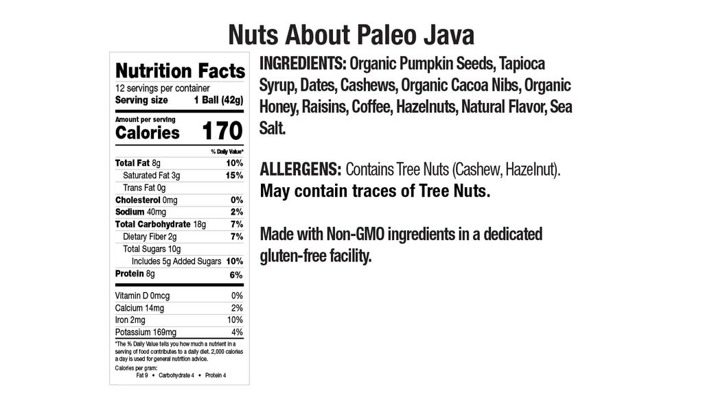 Paleo Java Nutritional