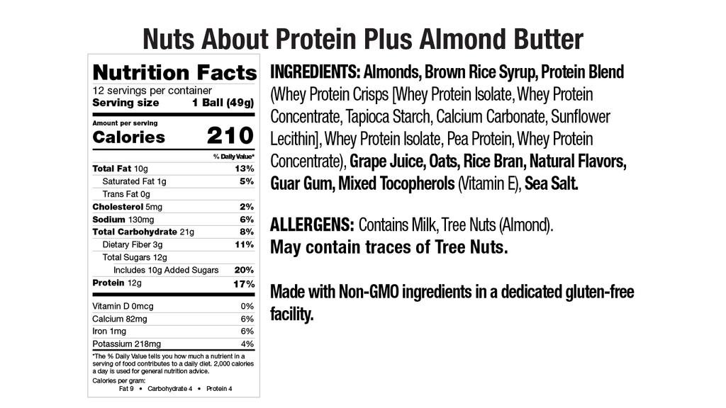 Protein Plus Almond Butter Nut Butter Balls