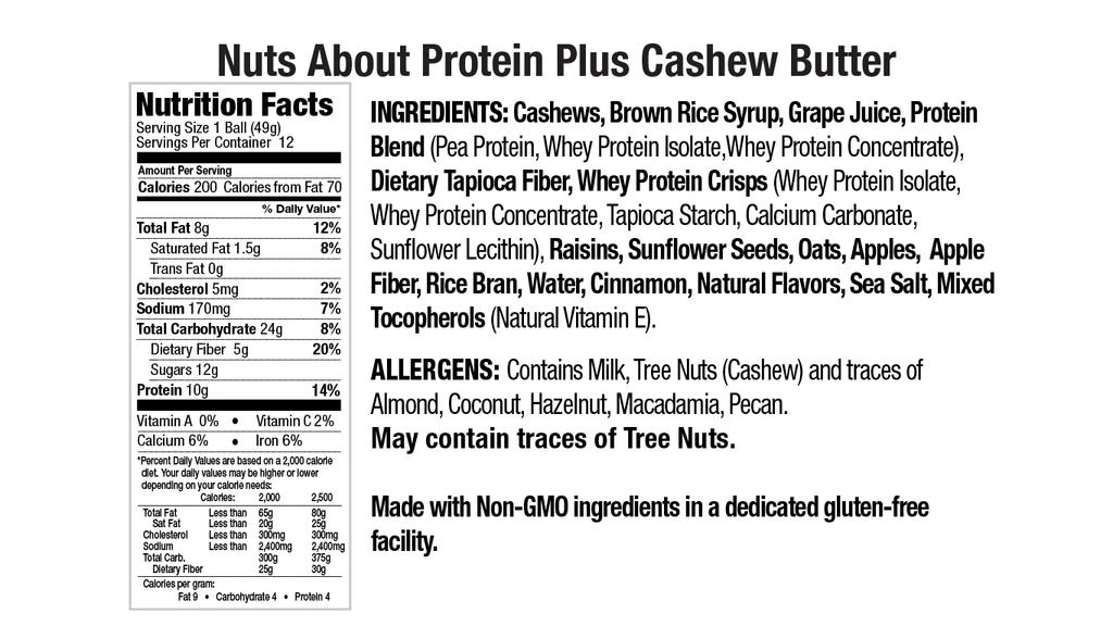 Protein Plus Cashew Butter Nut Butter Balls