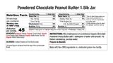 Chocolate Powdered Peanut Butter Nutritional 1.5 Jar