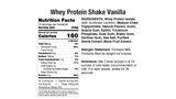 Whey Protein Shake Vanilla Nutritional