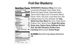 Blueberry Fruit Bars Nutritional