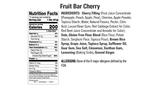 Cherry Fruit Bar Nutritional