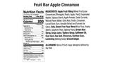 Apple Cinnamon Fruit Bar Nutritional