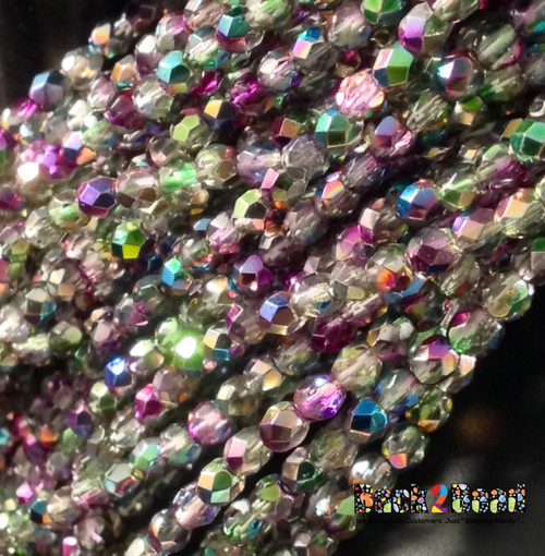 3mm Crystal Magic Orchid ( 95000 ) Fire Polish ( 600 Pieces )