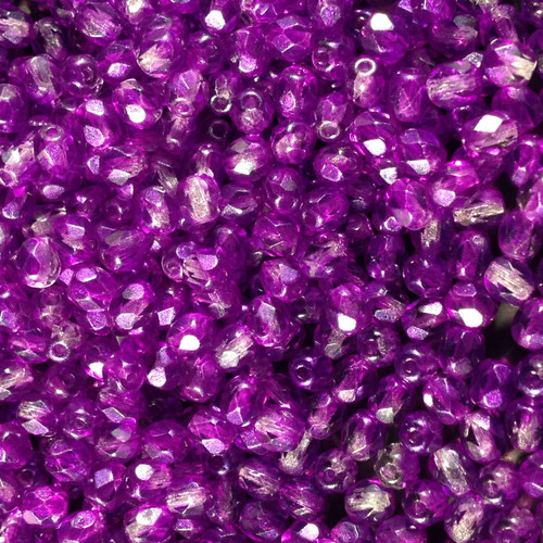 4mm Textured Crystal Lilac Fire Polish  ( 600 pieces )