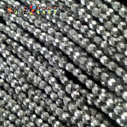 3mm Silky Silva ( 01700 ) Fire Polish ( 600 Pieces )