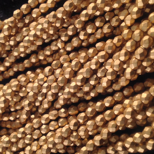 3mm Matt Oro Gold ( 01710 ) Fire Polish ( 600 Pieces )