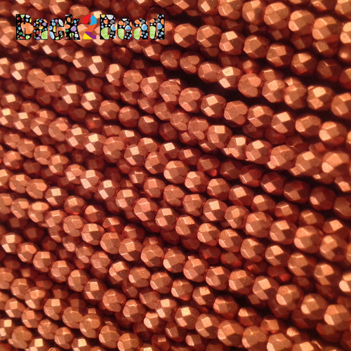 3mm Old Copper ( 01750 ) Fire Polish ( 600 Pieces )