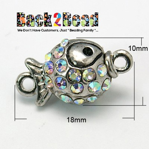 These magnetic clasps are great for necklaces. Each end is magnetic so make sure to align magnets in correct position before completing your project. They are also for bracelets, just add to the end of your DIY bracelets crimp in the hole.