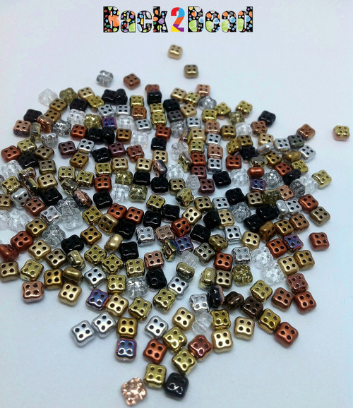 4Ceed© Multi Pack 3x5 Four Hole Seed Bead ( 25 gram bag )