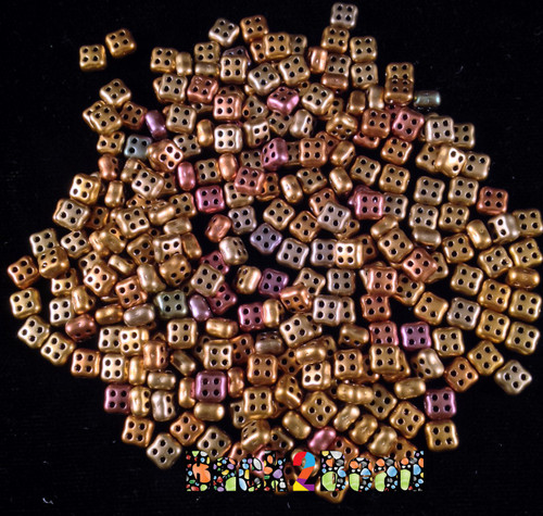 = Gold Iris 4Ceed© ( 01620 ) 3x5 Four Hole Seed Bead ( 25 gram bag )