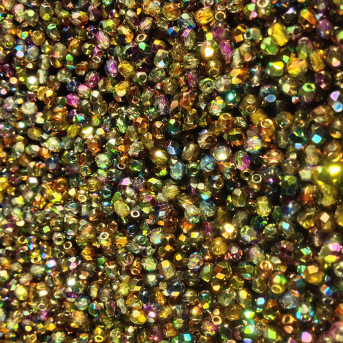 3mm Crystal Magic Multi Fire Polish ( 600 pieces ) Loose