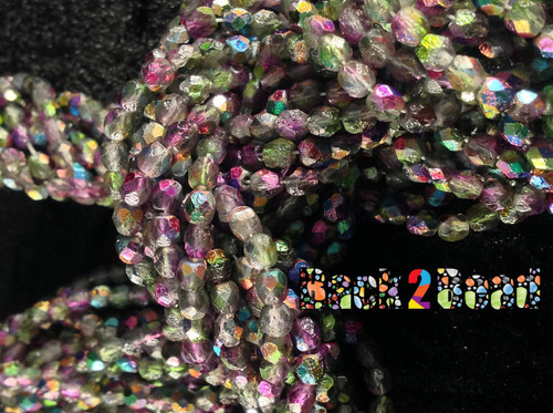 4mm Etch Crystal Magic Orchid ( 95000 - 85410 ) Fire Polish ( 600 Pieces )