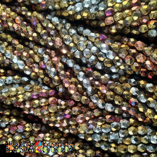 A beautiful mix of 4 strands each of Etch Golden Passion, Golden Pixie, and Golden Steel!.