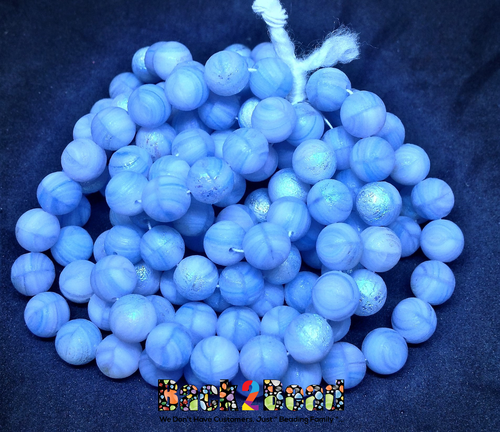 This stunning light blue agate AB ghost druk is a great addition to your project. Think how it will look at the club, glowing in the black light!