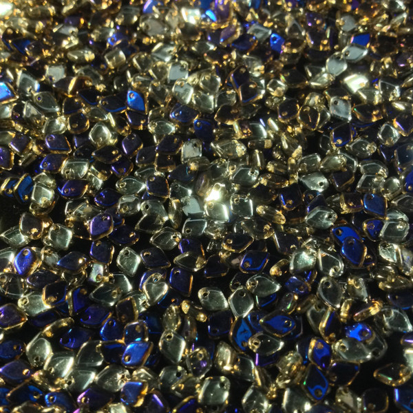 Crystal Azuro Dragon Scale Bead ( 1.5 x 5 ) 25 gram bag