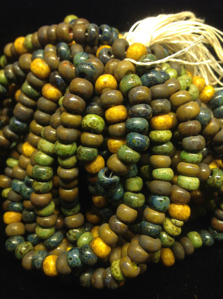 1/0 Opaque Picasso Aged Seed Beads .250 Kilo