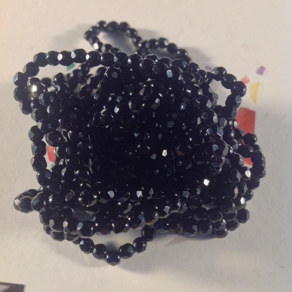 3mm Black ( 23980 ) Fire Polish ( 600 Pieces )