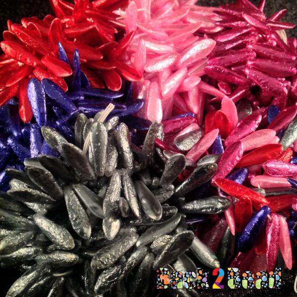 Metallic Red, Metallic Blue, Metallic Multi, Metallic Purple, Metallic Pink, and Metallic Green 150 pieces each !
