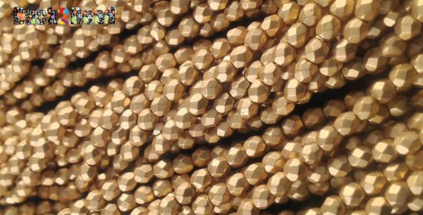 3mm Matt Oro Gold ( 01710 ) Fire Polish ( 600 Pieces )