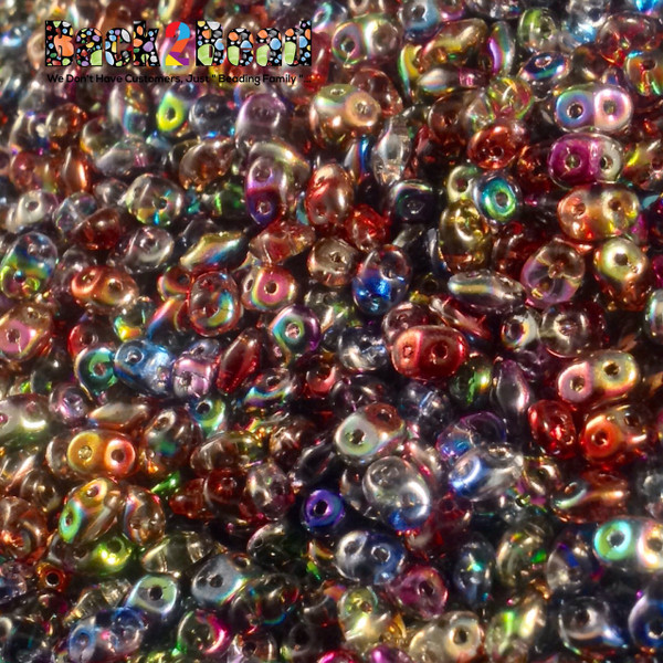 All of the beautiful Magic colors in one place....Super Duo seed beads work great for both embroidery and weaving, especially good for Peyote stitch. SuperDuos feature a unique oval diamond shape that widens just a little bit between the two holes and tapers to nice rounded ends. These beads are great any time its necessary to have perfect precision in your design. SuperDuo seed beads sold in 25 gram quantities, so there's always enough.