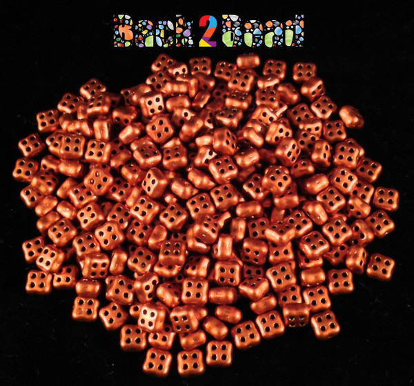 Old Copper 4Ceed© ( 01750 ) 3x5 Four Hole Seed Bead ( 25 gram bag )
