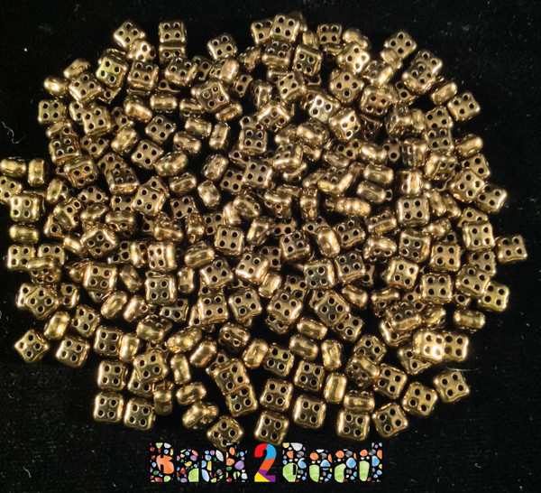 Bronze 4Ceed© ( 2398-14415 ) 3x5 Four Hole Seed Bead ( 25 gram bag )