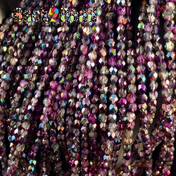 3mm Crystal Magic Purple ( 95500 ) Fire Polish ( 600 Pieces )