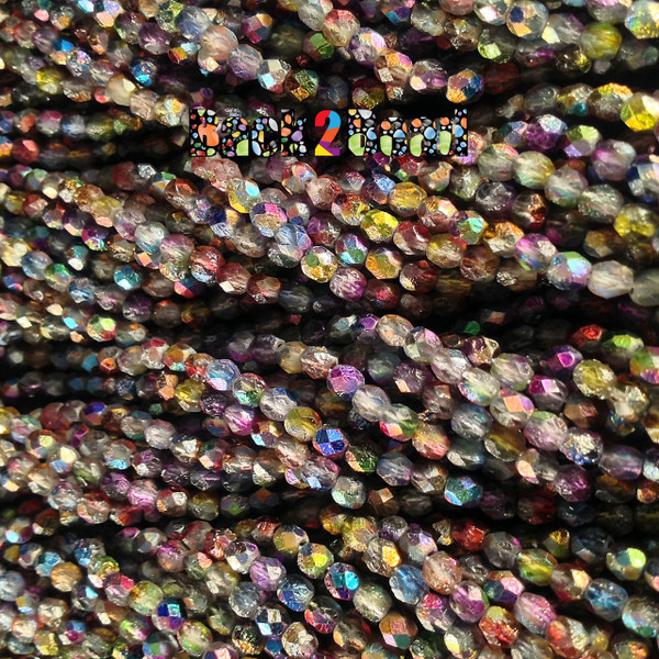 4mm Etch Crystal Magic Multi ( 95xxx - 85410 ) Fire Polish ( 600 Pieces )