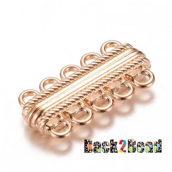 Rectangle, Alloy Magnetic Clasps, 17mm long, 33mm wide, 7mm thick, hole: 3mm.