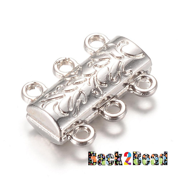 """"""" Ivy's Sister """", Platinum Alloy Magnetic Clasps, 14mm long, 19mm wide, 6mm thick, hole: 2mm."""