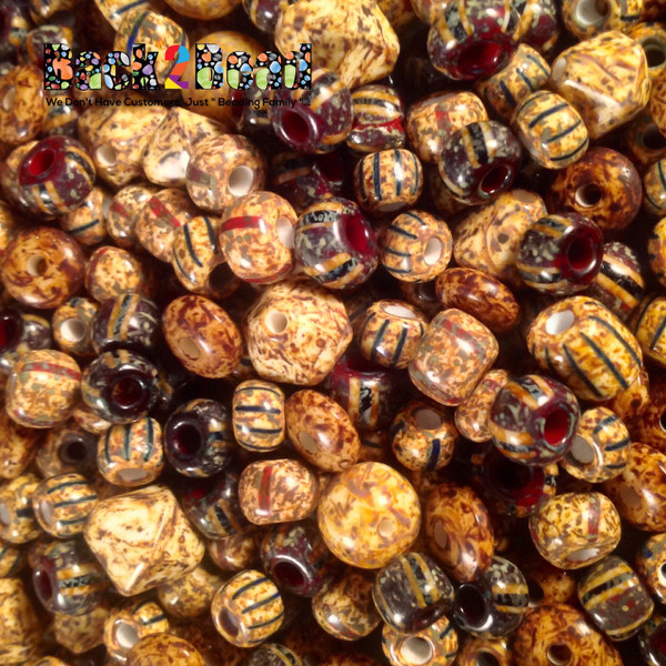 12MM  Aged Vintage Bicome Multi Shape Picasso Mix 75 grams