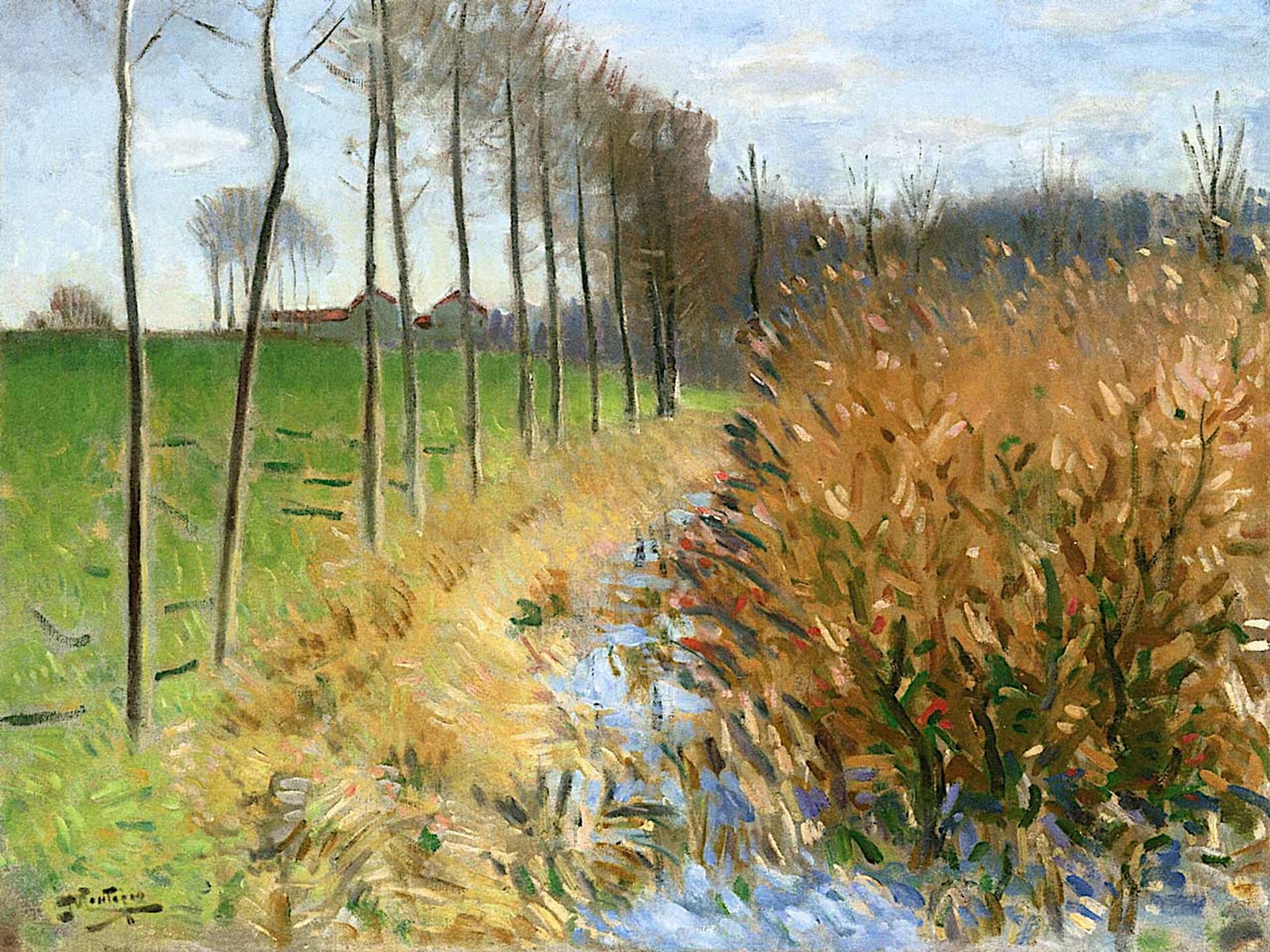 Pierre De L Yonne swamp in miss sur yonnepierre eugene montezin