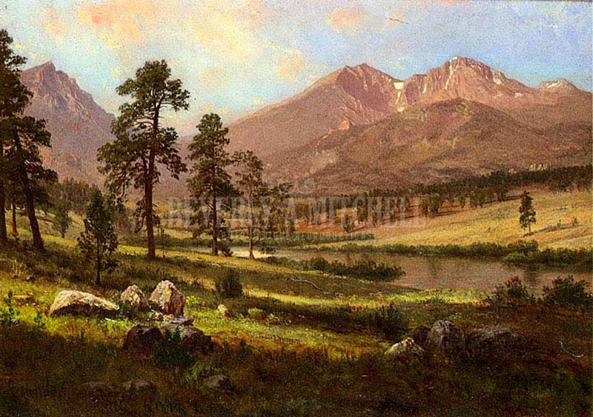 Longs Peak Estes Park Colorado By Albert Bierstadt Print And Painting From Beverly A Mitchell American Art Gallery