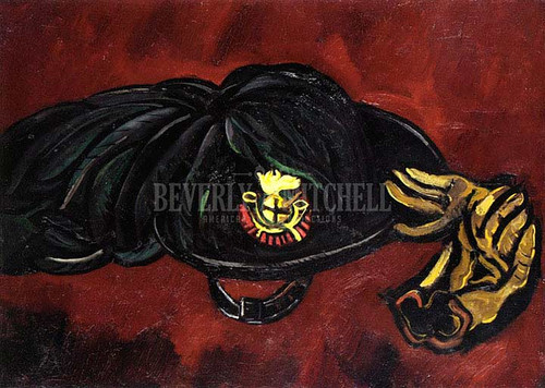 Insignia With Gloves by Marsden Hartley