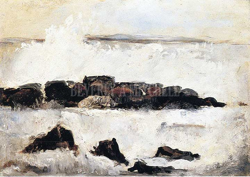 Surf On Reef by Marsden Hartley