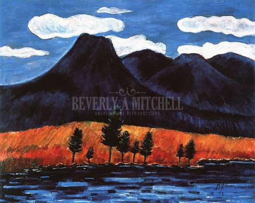 Blue Landscape by Marsden Hartley